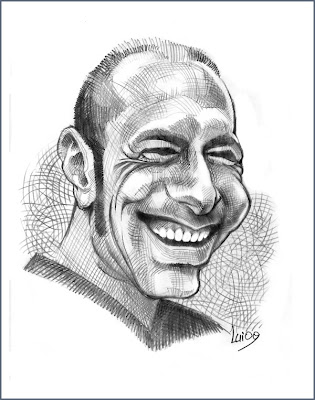caricature of an Italian man, caricature for free