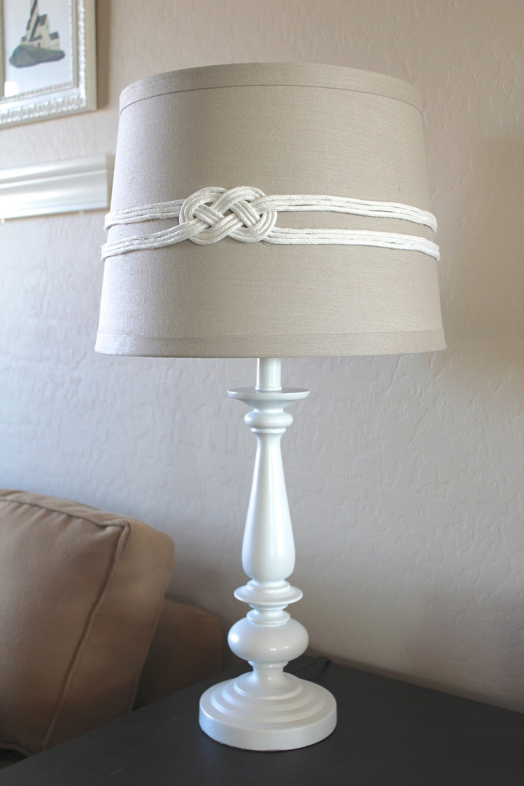 Everywhere beautiful some major changes and a diy nautical knot lampshade tutorial - Diy lamp shade ...