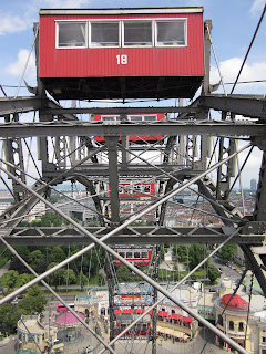 A view from one of the gondolas on the Rieseradt at the Pratter in Vienna