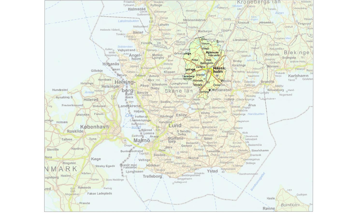 hässleholms kommun karta
