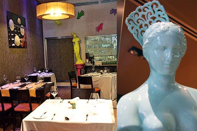 Comedor del restaurante AgU Alejandro Garcia Urrutia en Gijon – Decoracion Venus de Milo