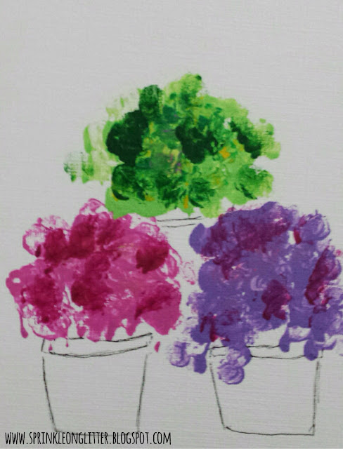 Flower Pots- finger painting- write 31 days