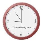 シンプル時計とカレンダーのブログパーツ