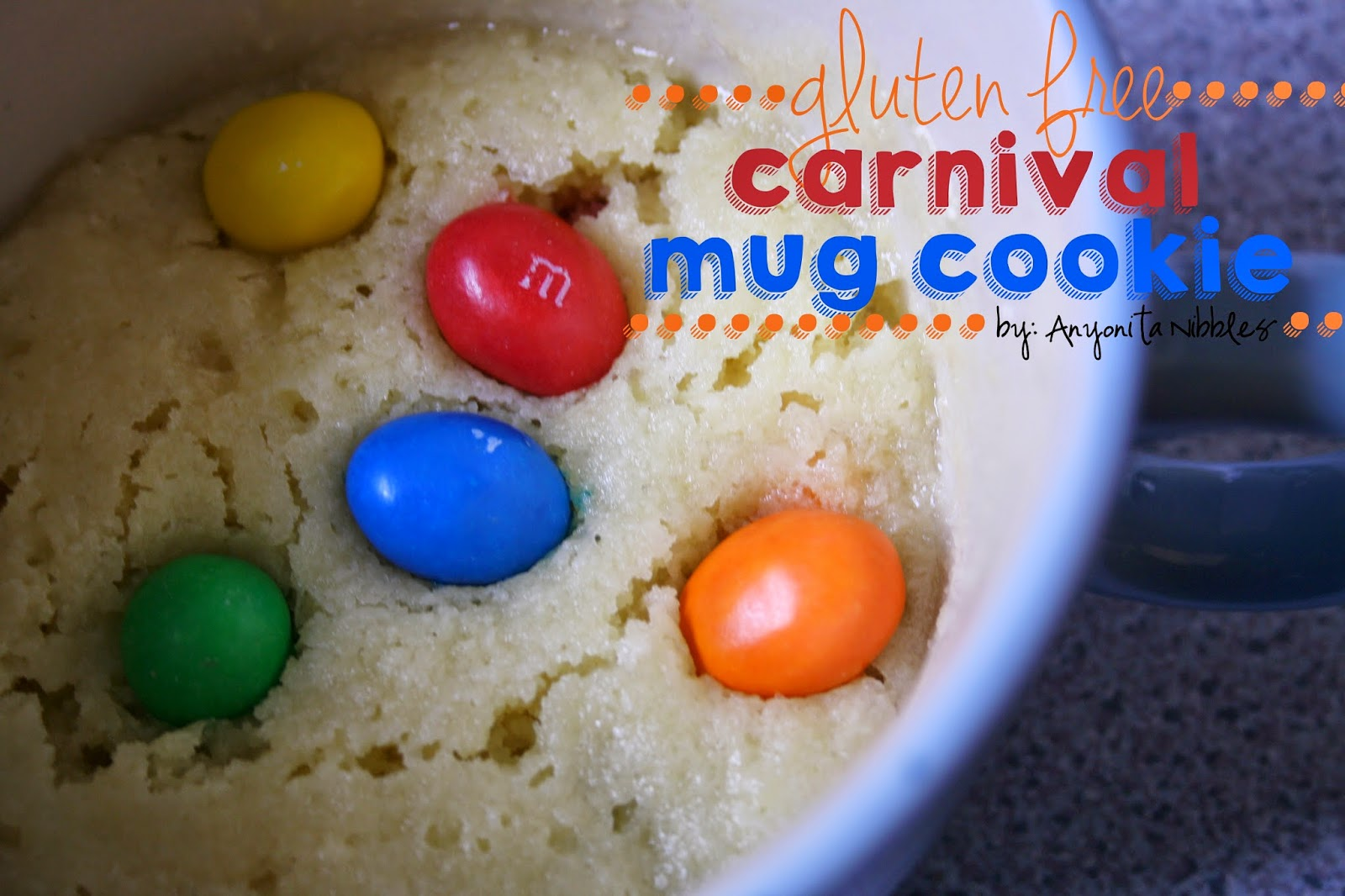 This indulgent single serving carnival cookie is gluten free! From Anyonita Nibbles