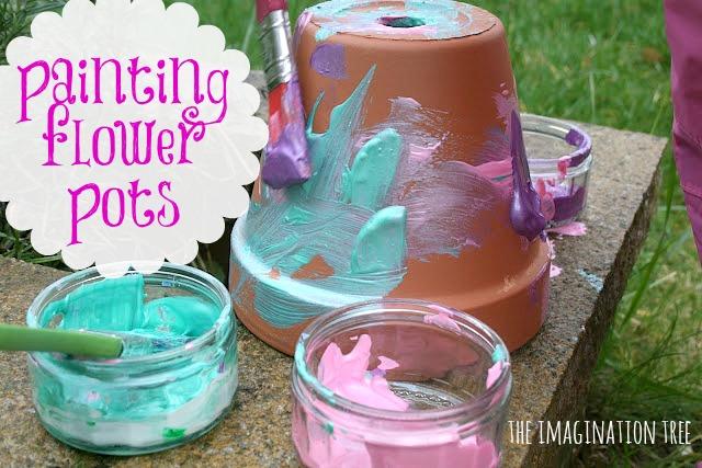 Flower Pot Painting Ideas For Kids Paint Some Flower Pots