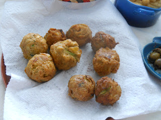 Middle Eastern Mezze - Hummus, Baba Ganoush, Falafel, Tzatzaki Sauce and Pita Bread