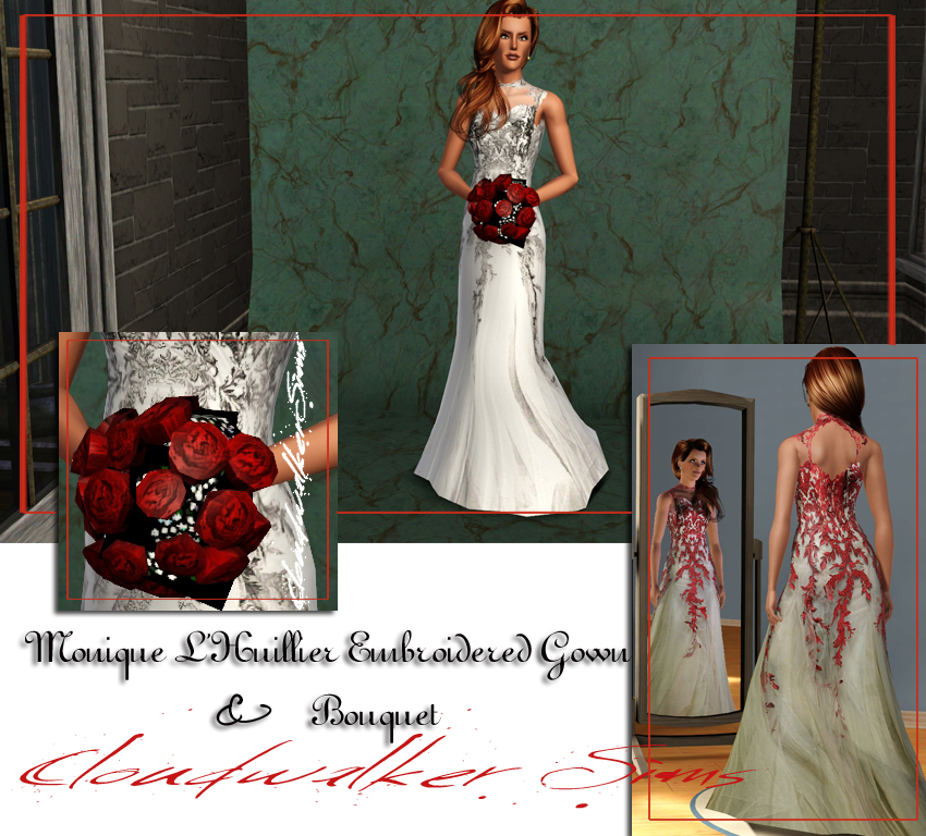 Wedding Altar Sims 3: My Sims 3 Blog: Monique LHuillier Wedding Gown And Bouquet