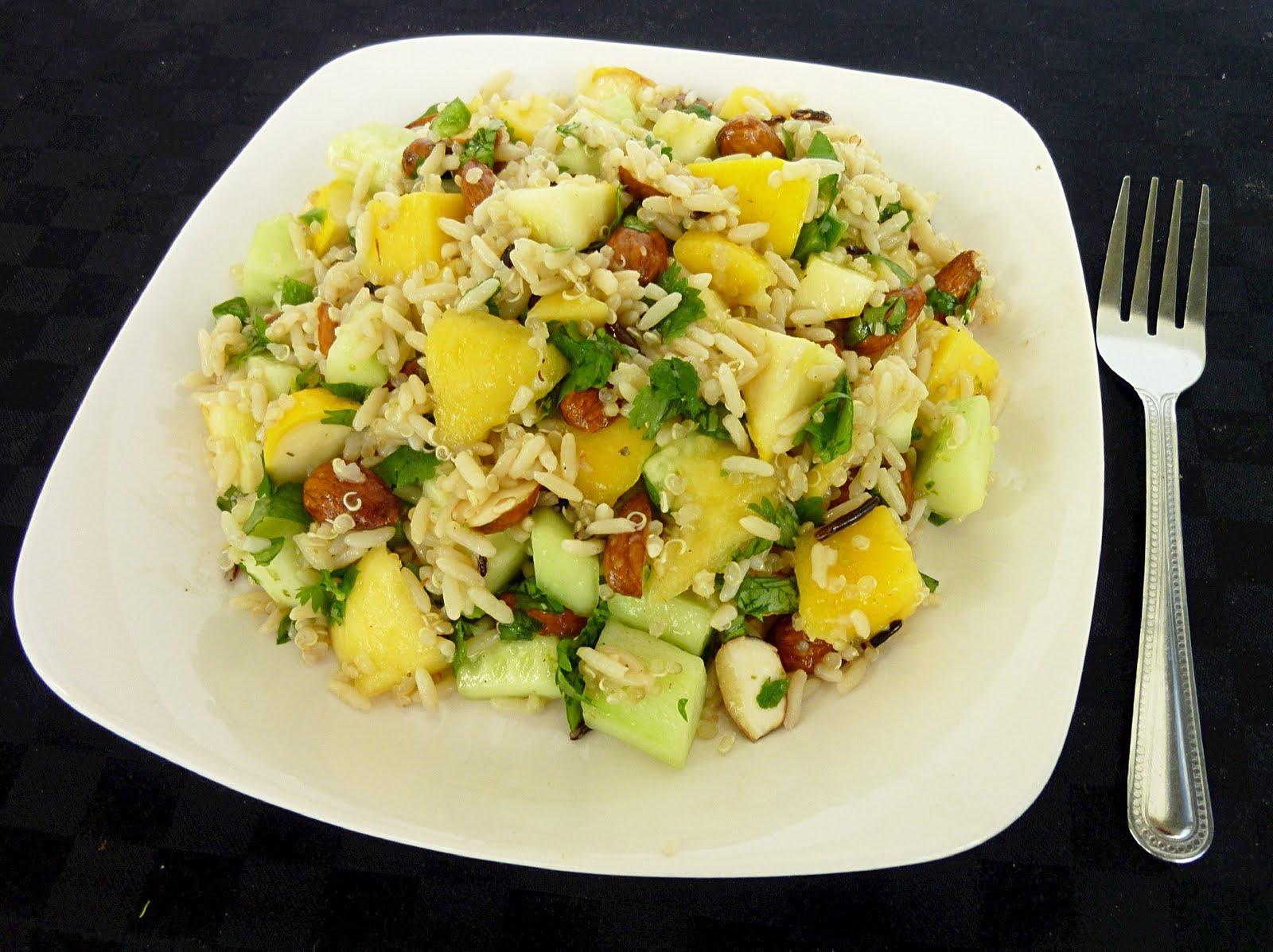 Vanilla & Spice: Mango, Cucumber & Squash Rice Salad