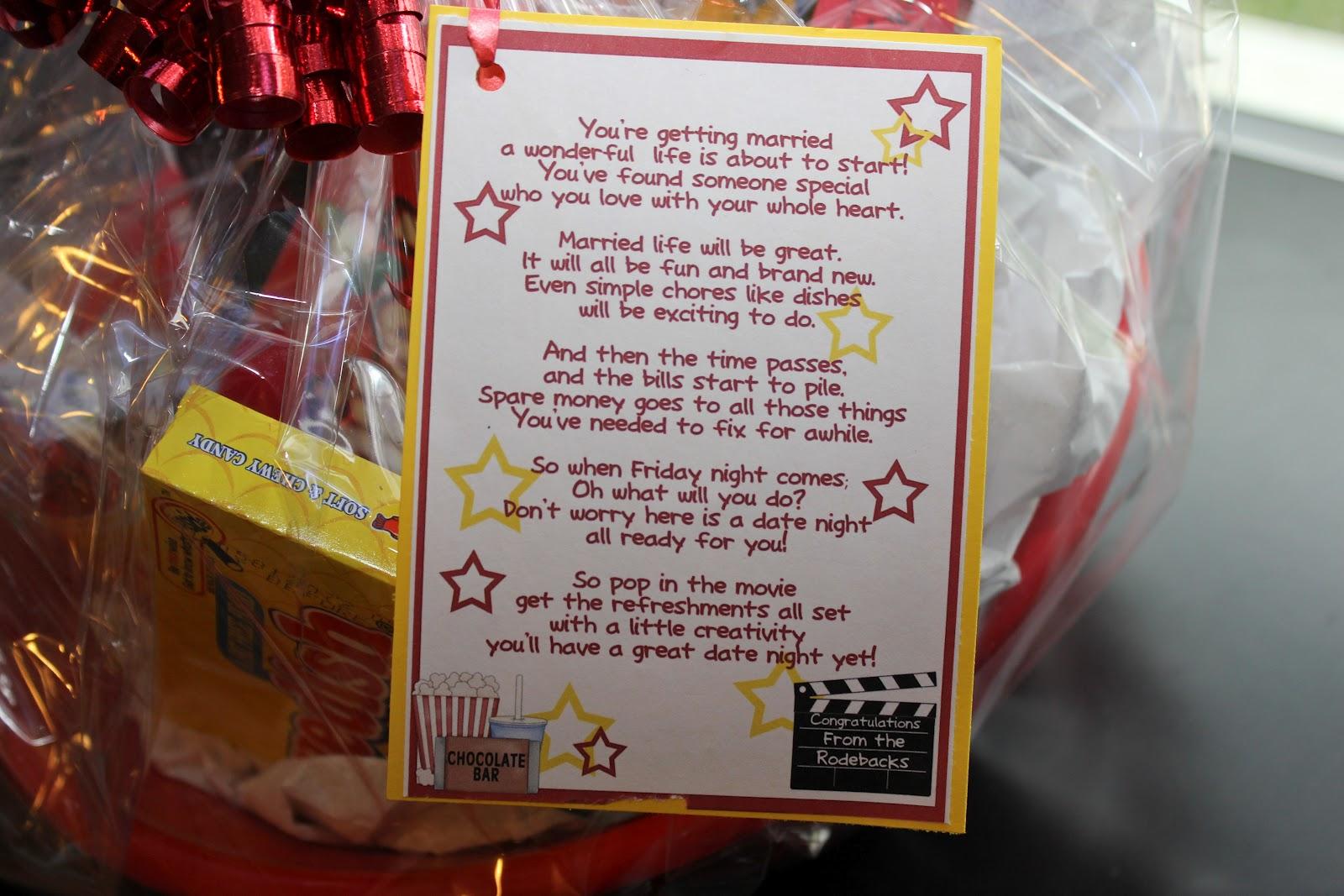 Date Night Wedding Gift Basket : Displaying 16> Images ForFree Printable Wedding Shower Clip Art...
