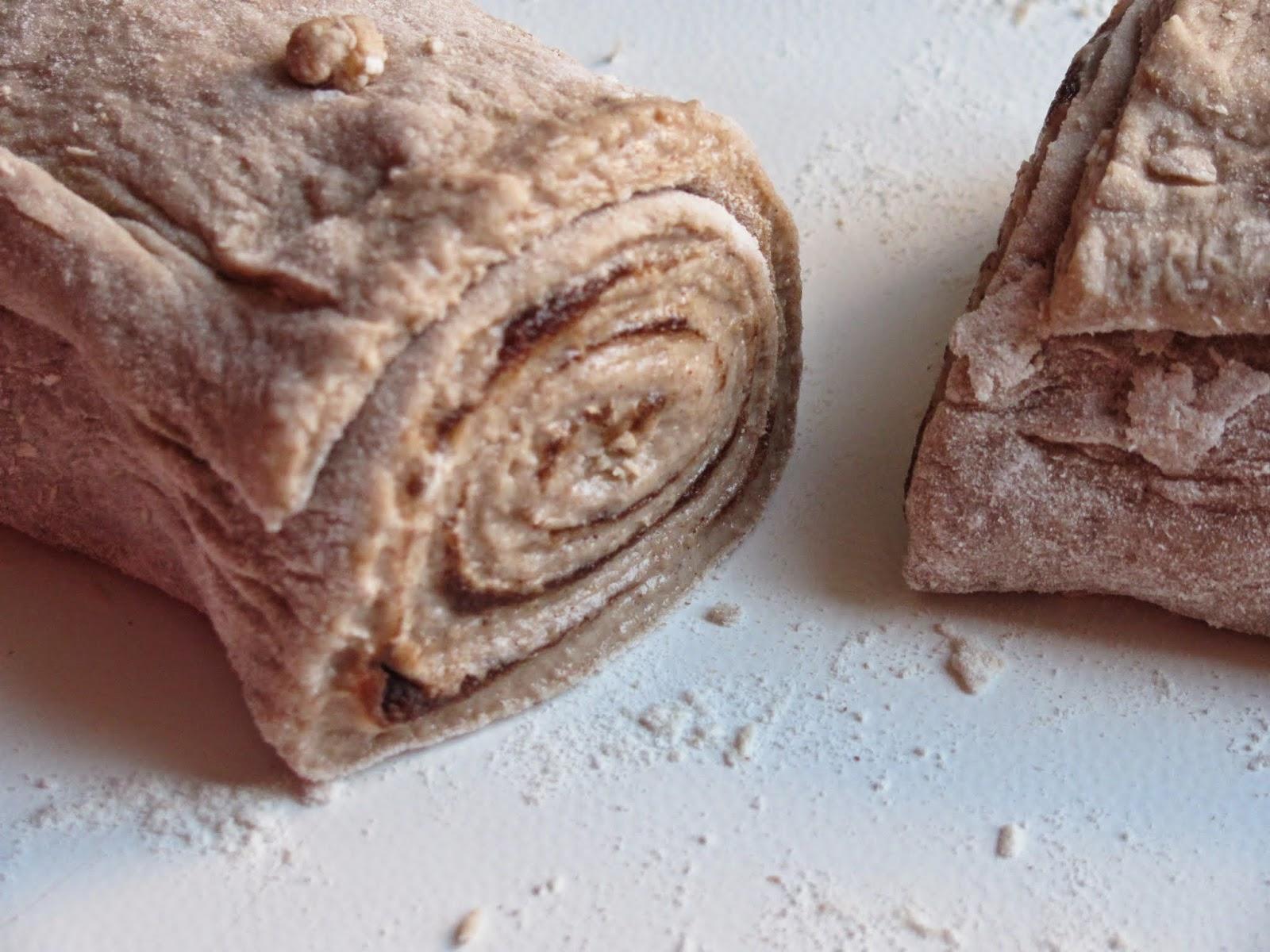 Cutting Cinnamon Roll Dough