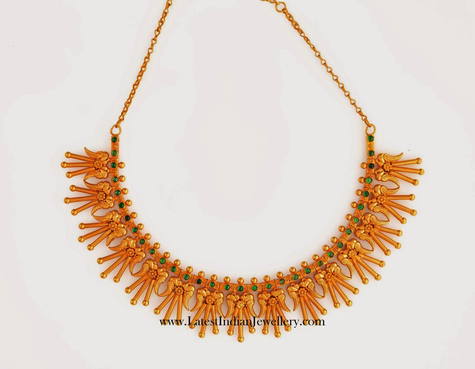 Reversible Antique Gold Necklace