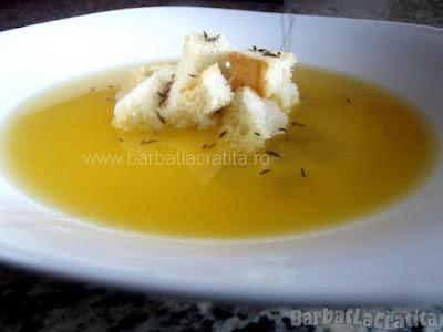 Supa de chimen in farfurie (imaginea retetei)