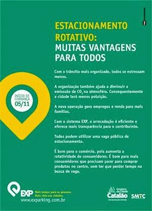 ESTACIONAMENTO ROTATIVO MUITAS VANTAGENS PARA TODOS