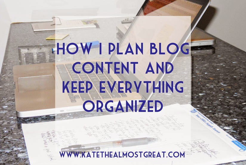 Tour through Blogland - Kate the (Almost) Great