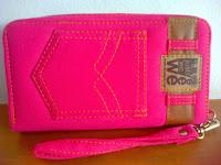 dompet wanita jeans pink