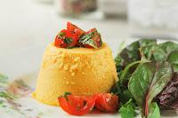 Flan de zanahorias con queso de cabra y cominos