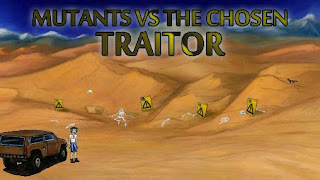 Screenshots of the Mutants vs the chosen: Traitor for Android tablet, phone.
