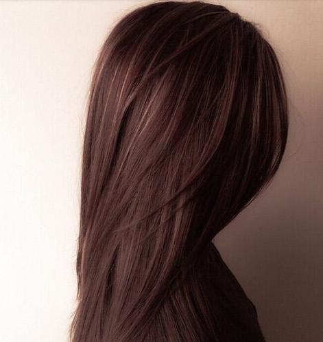 warna coklat seluruh rambut