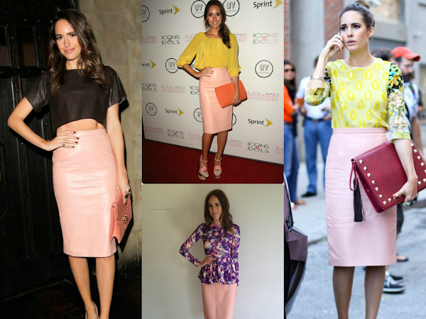 How to Wear...Pink Pencil Skirt