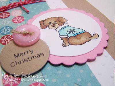 Merry Christmas dog card using Canine Christmas by Newton's Nook Designs