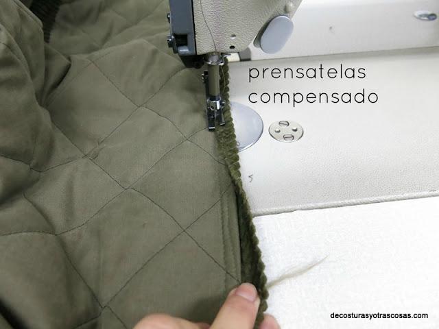 prensatelas compensado para máquina de coser