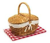picnic, lunch, picnic basket, basket