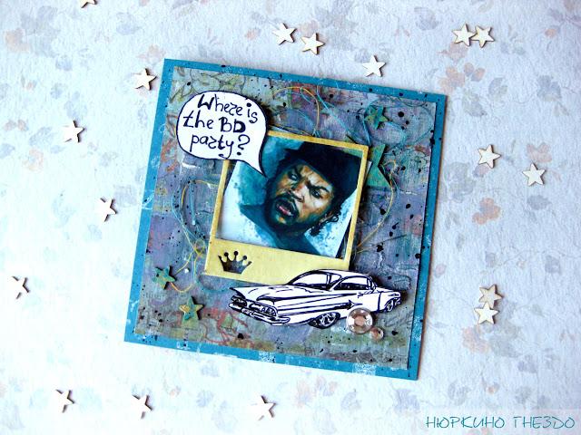 Мужская открытка в стиле рэп
