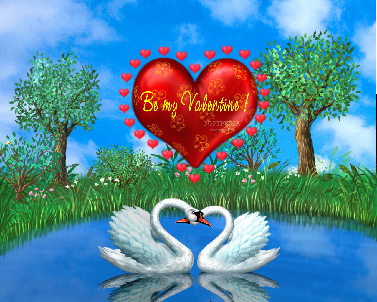 Download Wallpaper I Love You Cartoon - animated-love-wallpapers-for-desktop  You Should Have_58713   .png