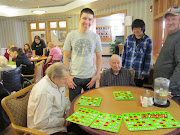 The kids had fun at the nursing home volunteer activity.
