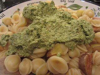 Raw Asparagus Pesto Pasta