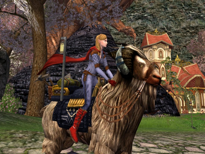 troll riding a goat supergirl of lorien goats of middle earth