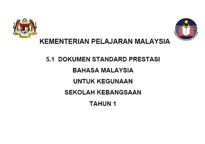 Dokumen Standard Prestasi KSSR for SK and SJK