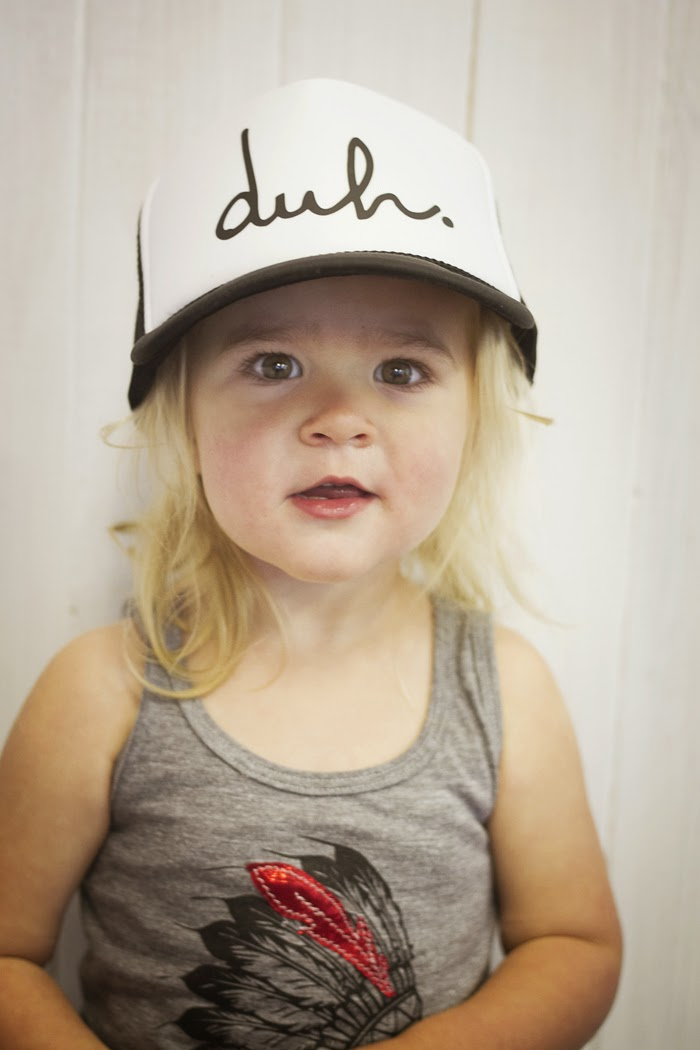 Kids 'Duh.' cap by Rachel and Groms