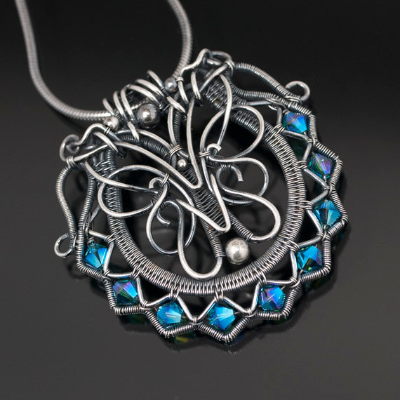 Woven Wire Work Jewelry by SarahnDippity ~ The Beading Gem\'s Journal