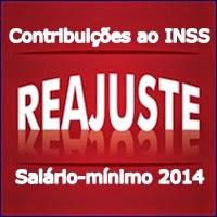 Contribuições INSS 2014, salário-mínimo, INSS