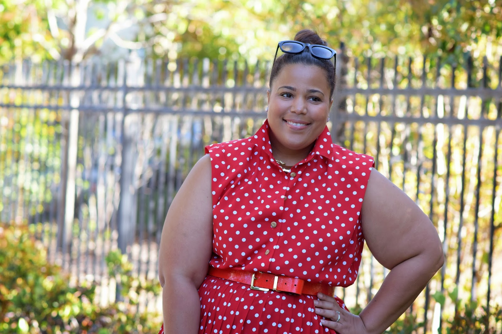 Plus size polka dot dress, plus size Vintage