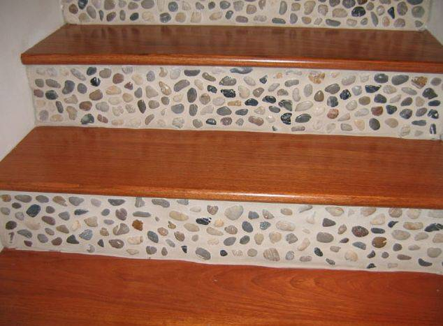 apple wood construction stair ideas