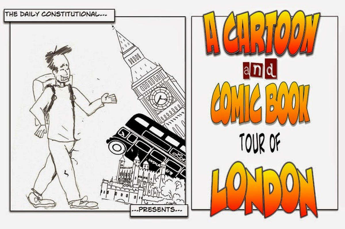 The coloring book tour opener - About The Cartoon Comic Book Tour Of London
