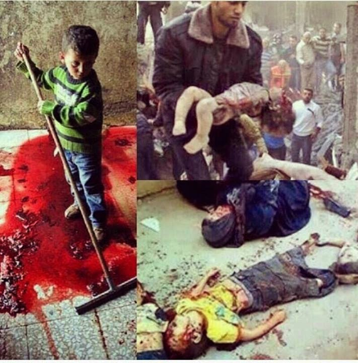 anak di GAZA sudah biasa menyapu darah jihad