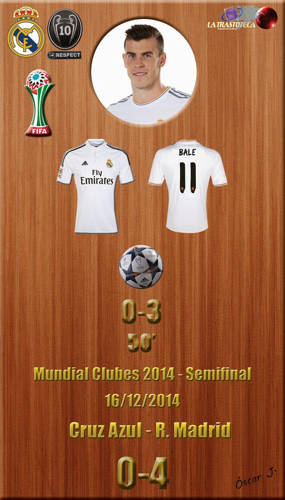 Gareth Bale (0-3) - Cruz Azul 0-4 Real Madrid - Mundial de Clubes de la FIFA MARRUECOS 2014 - Semifinales (16/12/2014)