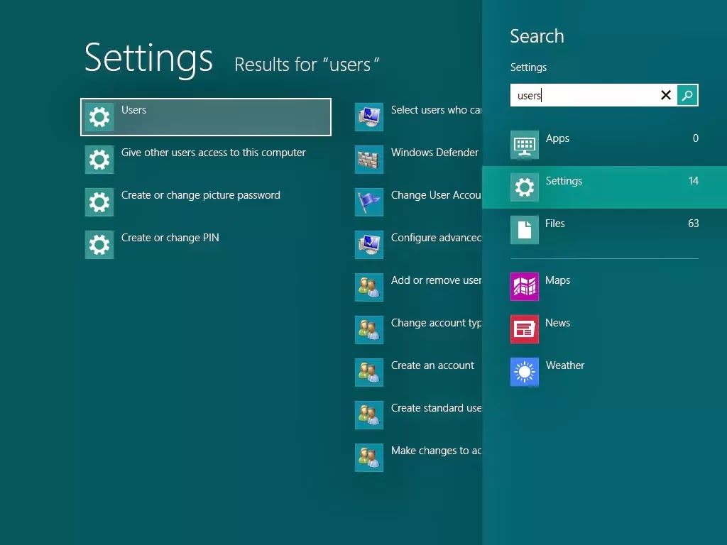 disable password login screen windows8