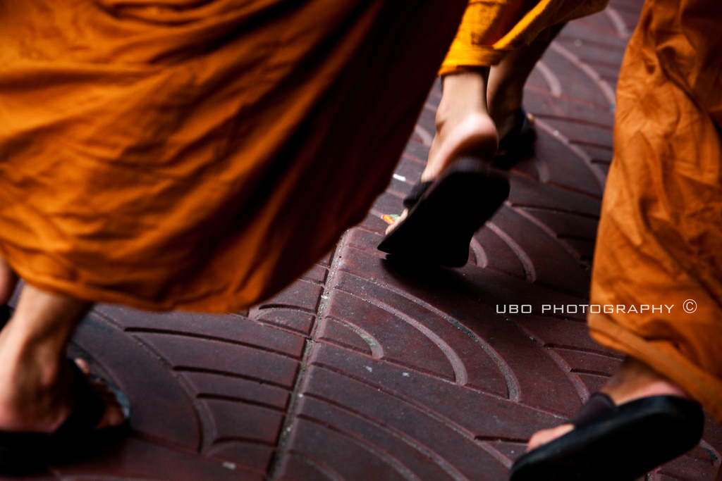 Monks in sensible shoes.