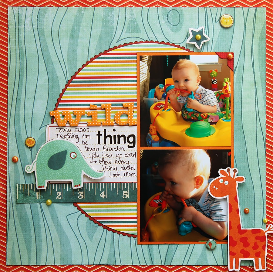Circle_Wild Animal_My Mind's Eye_Scrapbook Layout_Baby