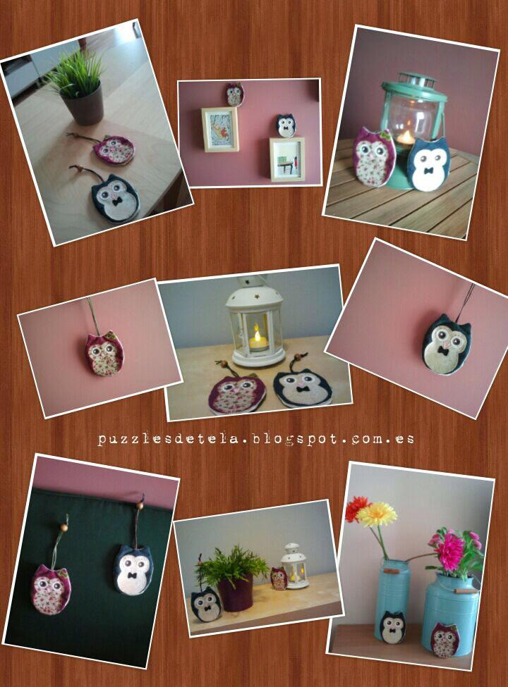 Llaveros patchwork, patchwork, búho, San Valentín, llaveros búhos, llaveros de búhos, regalos, día de la madre, cumpleaños, ideas para regalar, aniversario, regalo de aniversario