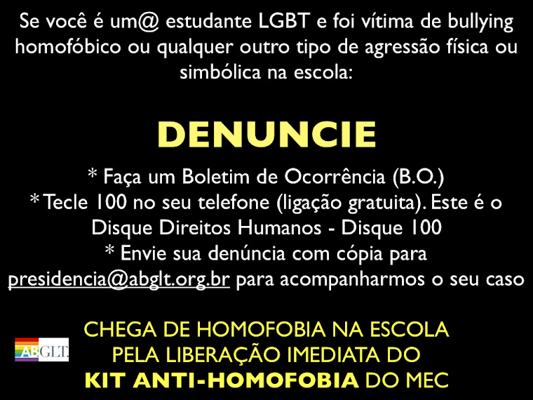 Homofobia nas escolas?
