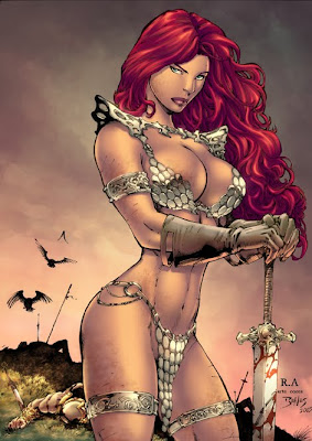 red-sonja-bikini female fantasy art