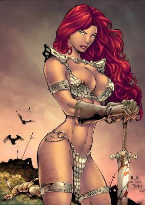 red-sonja-bikini female fantasy art