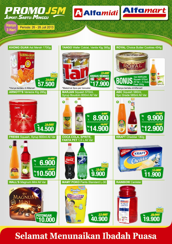 Katalog Alfamart Weekend Promo Terbaru Periode 26-28 Juli 2013