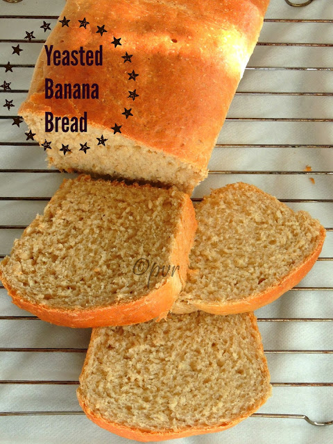 Eggless Banana Sandwich Bread, Yeasted Banana Sandwich Bread