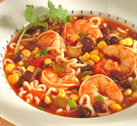 Spicy Shrimp and Noodle Soup